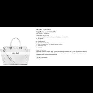 Michael Kors Jewel trim Satchel- medium